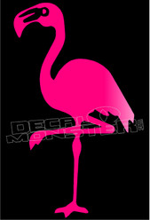 Flamingo Silhouette 1 Decal Sticker