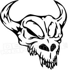 Mean Bison Skull Silhouette 1 Decal Sticker