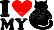 I Heart My Cat 25 Decal Sticker