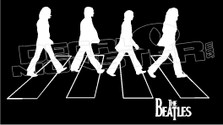 The Beatles Silhouette Decal Sticker