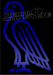 Eagle Silhouette 5 Decal Sticker