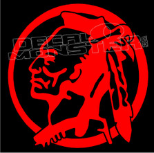Indian Head Silhouette 1 Decal Sticker