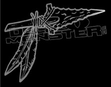 Arrowhead Feathers Arrow 1 Decal Sticker