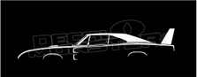 Dodge Charger Daytona 1969 Classic Silhouette Decal Sticker