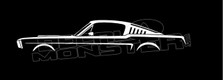 Ford Mustang 1965 Classic Silhouette Decal Sticker