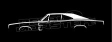 Dodge Charger 1968-1970 Classic Mopar Silhouette Decal Sticker