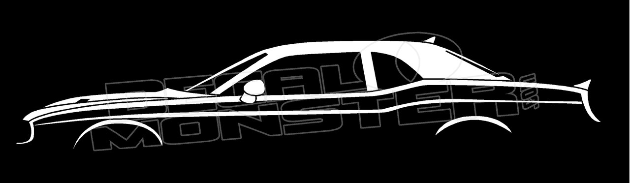 dodge challenger srt8 2008 silhouette decal sticker decalmonster com dodge challenger srt8 2008 silhouette decal sticker