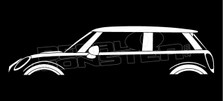 BMW Mini Cooper 2013 Silhouette Decal Sticker