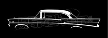 Chevrolet Bel-Air 1957 4-Door Sedan Silhouette Decal Sticker