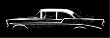 Chevrolet 2-Door Sedan 1956 Silhouette Decal Sticker