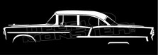 Chevrolet Bel-Air 4-door 1955 Sedan Silhouette Decal Sticker