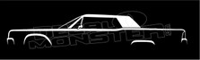 Lincoln Continental Classic 1961-69 Silhouette Decal Sticker.