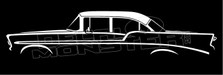 1956 Chevrolet Bel-Air 4-door Sedan, Post, Chevy Silhouette Decal Sticker