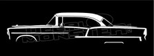 Chevrolet Bel-Air 1955 4-Door Sedan Silhouette Decal Sticker