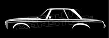 Mercedes SL, W113 Classic Hardtop Pagoda Silhouette Decal Sticker