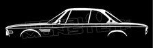 BMW E9 3.0 vintage coupe 1968-1975 silhouette decal sticker