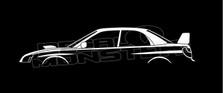Subaru Impreza WRX STI Silhouette Decal Sticker