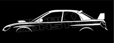 Subaru Impreza WRX STI 'blob eye' 2nd Gen Silhouette Decal Sticker