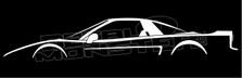 Honda NSX Silhouette Decal Sticker