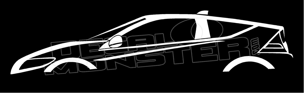 Honda CR-Z Sports Hybrid Silhouette Decal Sticker