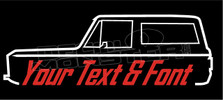 Ford Bronco 1966-1977 (Custom Text) Decal Sticker