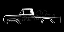 Ford F100 (1957-1960) Classic Pickup Truck Silhouette Decal Sticker