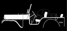 Willys Jeep CJ-5 1954 Vintage Classic Silhouette Decal Sticker