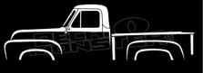 Ford F100 (1953-1955) Classic Pickup Truck Silhouette Decal Sticker