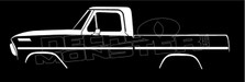 Ford F100 (1967-1972) Classic Pickup Truck Silhouette Decal Sticker