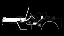 1945 Willys Overland Jeep Silhouette Decal Sticker