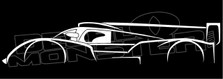 Audi R18 2011 Silhouette Decal Sticker
