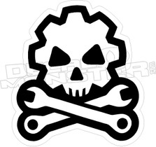 Death Mechanic - Hard Hat Decal