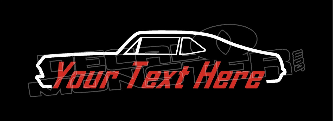 Chevrolet Nova 1968-1972 Muscle (Custom Text) Silhouette Decal Sticker - DecalMonster.com