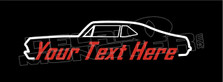 Chevrolet Nova 1968-1972 Muscle (Custom Text) Silhouette Decal Sticker