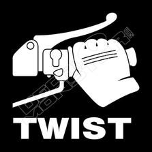 Twist Throttle Motorcycle Decal Sticker