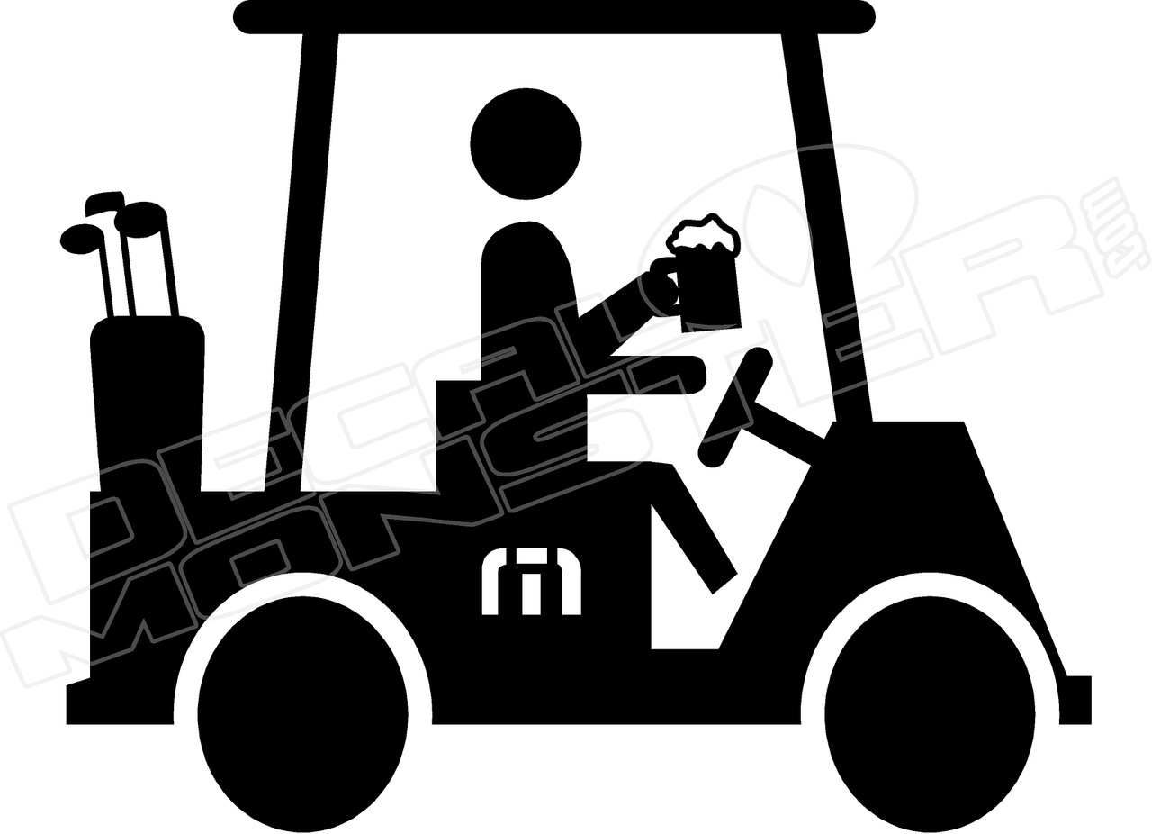 aba49ac328 Travis Mathew Beer golf cart Decal Sticker - DecalMonster.com