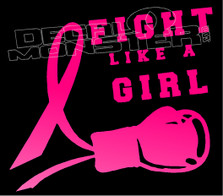 Fight Like a Girl Cancer Knock Out 1 Decal Sticker