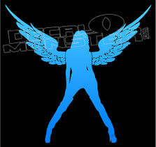 Angel Hot Girl Silhouette 1 Decal Sticker