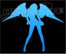 Angel Hot Girl Silhouette 2 Decal Sticker