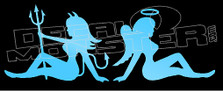Devil and Angel Hot Girls 1 Decal Sticker