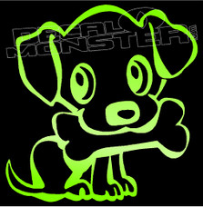 Dog and His Bone 1 Decal Sticker