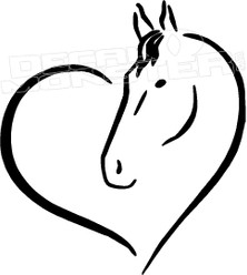 Horse Love Decal Sticker