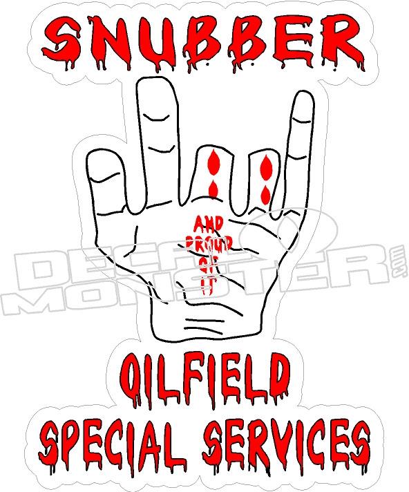 Snubber Oilfield - Hard Hat Decal