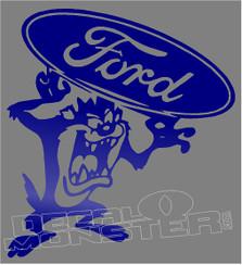 Tazmanian Devil Ford 1 Decal Sticker
