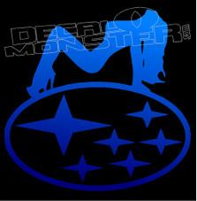 Subaru Hot Chick 1 Decal Sticker
