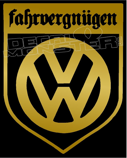 Vw Fahrvergnugen Crest 1 Decal Sticker Decalmonster Com Want to discover art related to farfegnugen? vw fahrvergnugen crest 1 decal sticker