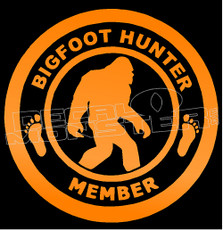 Bigfoot Hunter Member Decal Sticker
