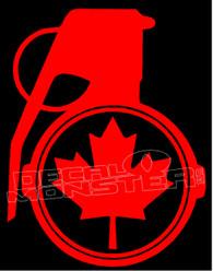 Canada Grenade 13 Decal Sticker