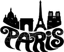 City of Paris Decal Sticker