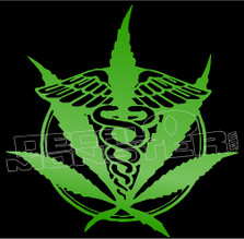 Medical Marjuana Decal Sticker